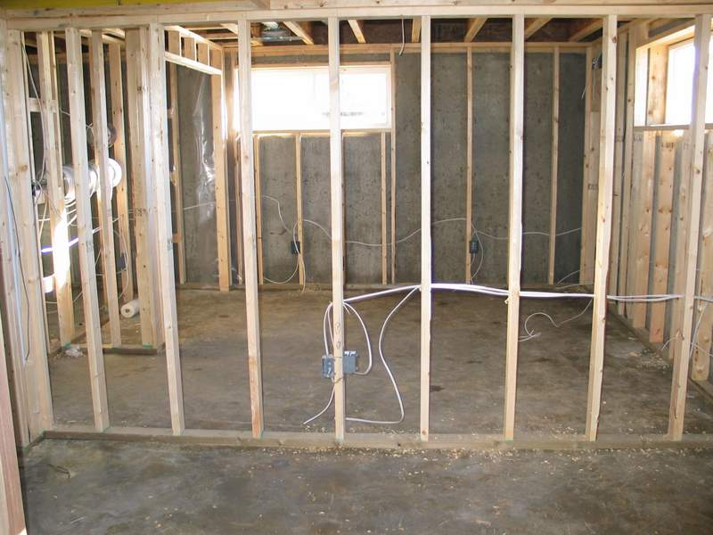 wiring a basement the rough in stage electrical online rh electrical online com wiring basement outlets basement electrical wiring