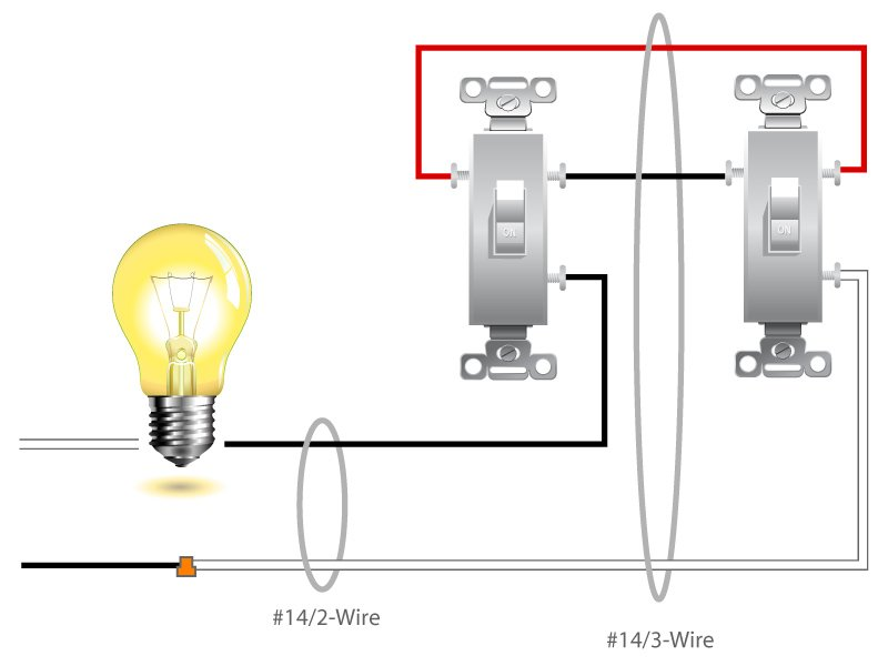 3 WaySwitch 1 two way switch wiring diagram,Wiring Diagram Of 2 Way Light Switch