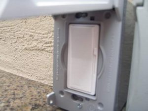 Outdoor Switch in Weatherproof Box and Cover