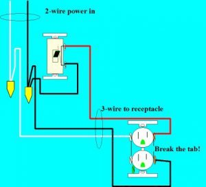 Simple switched outlet circuit