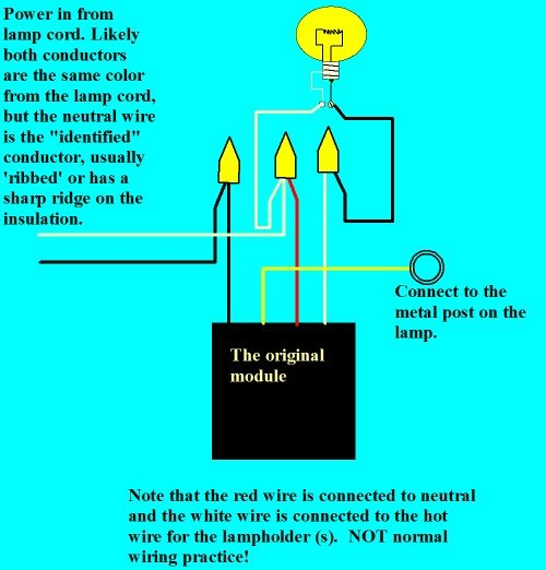 replacing a touch lamp control unit electrical online touch lamp diagram original