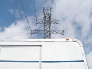 Power Lines Above Trailer