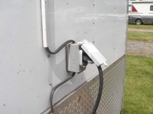 Trailer Connected to Grounded Receptacle