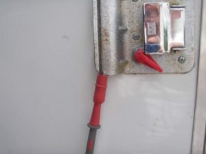 Red Lead on Trailer Door