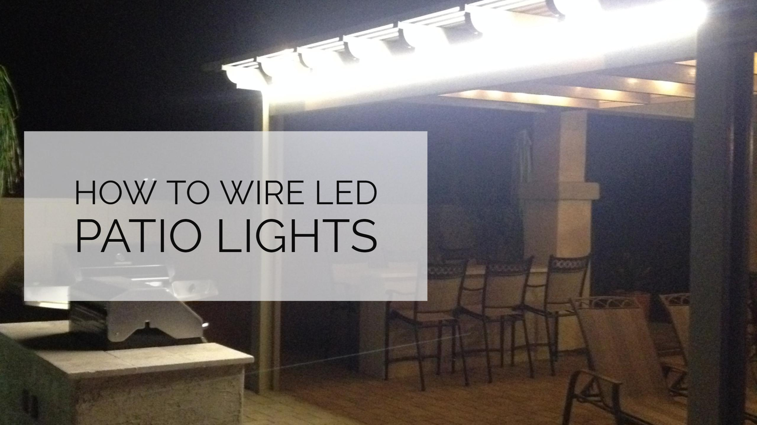 Outdoor Patio Lighting Using Led Tape