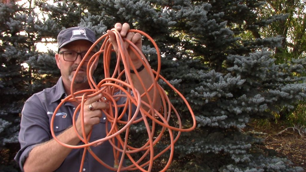 Typical Twisted Extension Cord