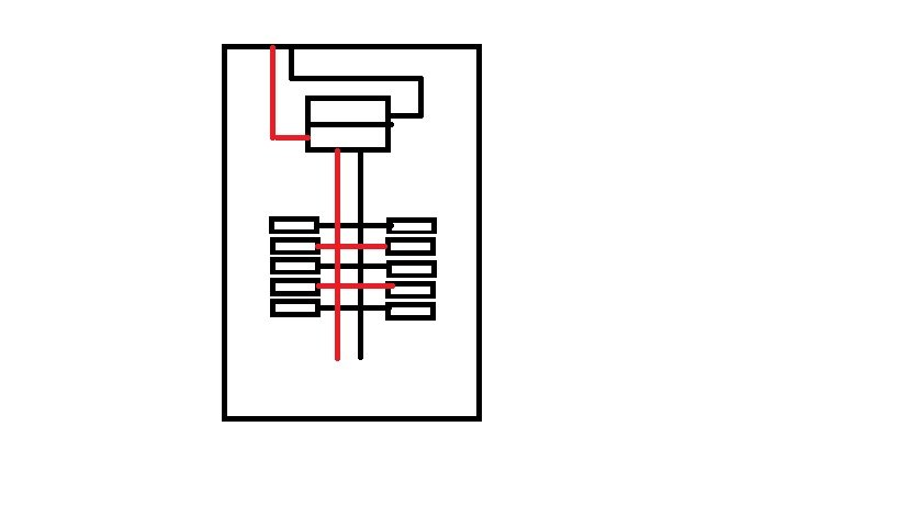 Sketch Showing Power Flow Through a Panel